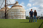 Chip and Joanna Gaines of HGTV's Fixer Upper show at Magnolia Market in Waco, Texas