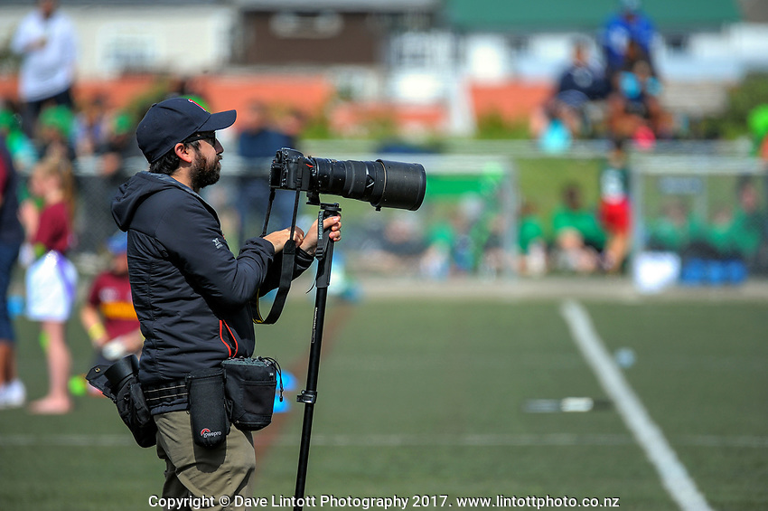 Photographer Elias Rodriguez. Day one of the 2017 Air NZ Rippa Rugby Championship at Wakefield Park in Wellington, New Zealand on Monday, 18 September 2017. Photo: Dave Lintott / lintottphoto.co.nz