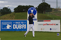 Ricardo Gouveia (POR) on the 1st tee during Round 4 of the Open de Espana 2018 at Centro Nacional de Golf on Sunday 15th April 2018.<br /> Picture:  Thos Caffrey / www.golffile.ie<br /> <br /> All photo usage must carry mandatory copyright credit (&copy; Golffile | Thos Caffrey)