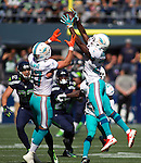 at CenturyLink Field in Seattle, Washington on September 11, 2016.  Seahawks came from behind with 31 seconds remaining in the fourth quarter to beat the Dolphins 12-10.   ©2016.  Jim Bryant Photo. All Rights Reserved