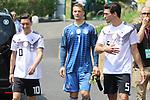 Mesut Ozil, Manuel Neuer, Mats Hummels bei einer Pressekonferenz  der DFB Nationalmannschaft im Trainingslager Eppan in S&uuml;dtirol im Rahmen der Vorbereitung f&uuml;r die WM in Russland.<br /> <br /> Pierre TEYSSOT<br /> <br />  / 2652018<br /> <br /> ***Pressconference  of the German national team at Sportanlage Rungg at the Southern Tyrol Training Camp, Eppan, Italy - 26 May 2018***