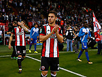George Baldock of Sheffield Utd makes his hime debut during the Carabao Cup, second round match at Bramall Lane, Sheffield. Picture date 22nd August 2017. Picture credit should read: Simon Bellis/Sportimage