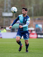 Joe Jacobson of Wycombe Wanderers during the Sky Bet League 2 match between Wycombe Wanderers and Blackpool at Adams Park, High Wycombe, England on the 11th March 2017. Photo by Liam McAvoy.