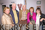 Attending the lecture on 'Archaeological Monuments & Identity for Iveragh'  given by John Sheehan from UCC as part of Culture night in Waterville's Teac Amergin were l-r; Marie Mullins, John Quinlan, Tom Horgan, Ellie O'Sullivan & Alisende Healy-Orme.
