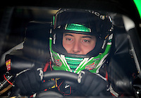 Sept. 20, 2008; Dover, DE, USA; Nascar Sprint Cup Series driver Kyle Busch during practice for the Camping World RV 400 at Dover International Speedway. Mandatory Credit: Mark J. Rebilas-