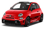2016 Abarth 595 Competizione 2 Door Convertible Angular Front stock photos of front three quarter view