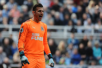 Martin Dubravka of Newcastle United during Newcastle United vs Arsenal, Premier League Football at St. James' Park on 15th April 2018