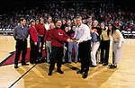 University of Wisconsin Volleyball coach Pete Waite during halftime at the Butler game at the Kohl Center in Madison, WI, on 1/30/01. Butler beat Wisconsin 58-44. (Photo by David Stluka)