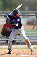 Minnesota Twins Javier Pimentel #55 during a minor league spring training intrasquad game at the Lee County Sports Complex on March 25, 2012 in Fort Myers, Florida.  (Mike Janes/Four Seam Images)