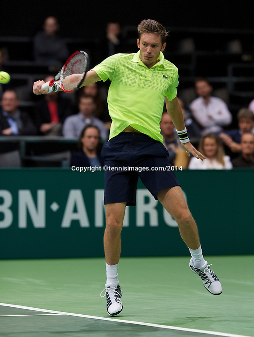 13-02-14, Netherlands,Rotterdam,Ahoy, ABNAMROWTT, Nicolas Mahut(FRA)<br /> Photo:Tennisimages/Henk Koster