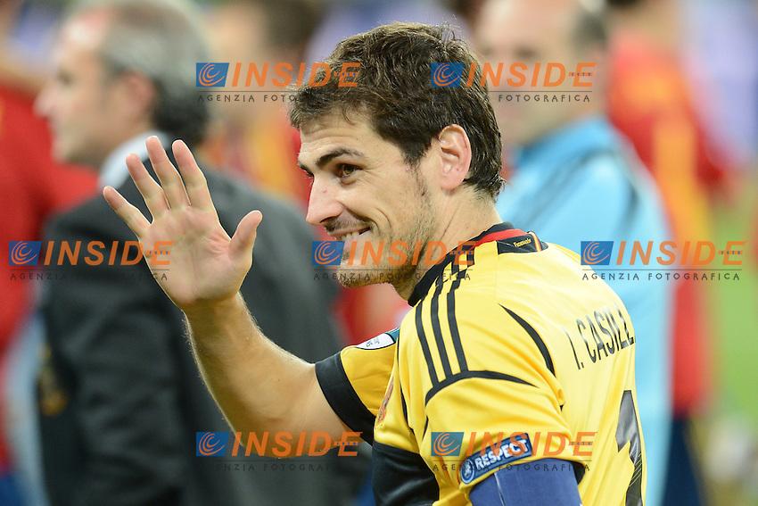 """Iker Casillas Spain.Kiev 01/07/2012  """"Stadio Olimpico"""".Football calcio Europeo 2012 Spagna Vs Italia.Football Calcio Euro 2012.Foto Insidefoto Alessandro Sabattini..."""