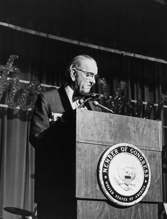 Former President Lyndon B. Johnson. (Photo by CQ Roll Call via Getty Images)