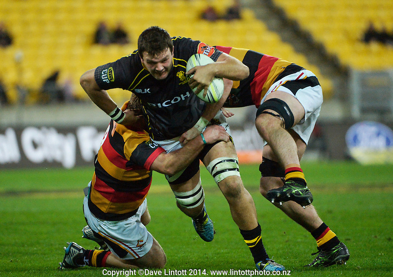 James Wall in action during the ITM Cup rugby union match between Wellington Lions and Waikato at Westpac Stadium, Wellington, New Zealand on Saturday, 16 August 2014. Photo: Dave Lintott / lintottphoto.co.nz