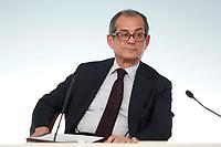 Minister of Economy Giovanni Tria<br /> Roma 24/07/2018. Conferenza stampa al termine del Consiglio dei Ministri.<br /> Rome 24th of July. Press conference at the end of Ministers Cabinet .<br /> Foto Samantha Zucchi Insidefoto