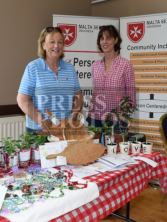 Deirdre Black and Claire Byrne pictured at the Order of Malta community stand at the monthly Cottage Market held in St. Peter's Parish Hall. Photo:Colin Bell/pressphotos.ie