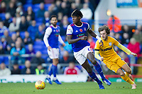 Trevoh Chlobah of Ipswich Town turns inside during Ipswich Town vs Preston North End, Sky Bet EFL Championship Football at Portman Road on 3rd November 2018