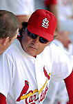 28 February 2007: St. Louis Cardinals manager Tony La Russa talks with third baseman Scott Rolen baseman during a pre-season, Grapefruit League game against the Florida Marlins on Opening Day for Spring Training at Roger Dean Stadium in Jupiter, Florida. The Cardinals and Marlins share Roger Dean Stadium and the training facilities which opened in 1998 as a co-development between the Cardinals and the Montreal Expos.<br /> <br /> Mandatory Photo Credit: Ed Wolfstein Photo