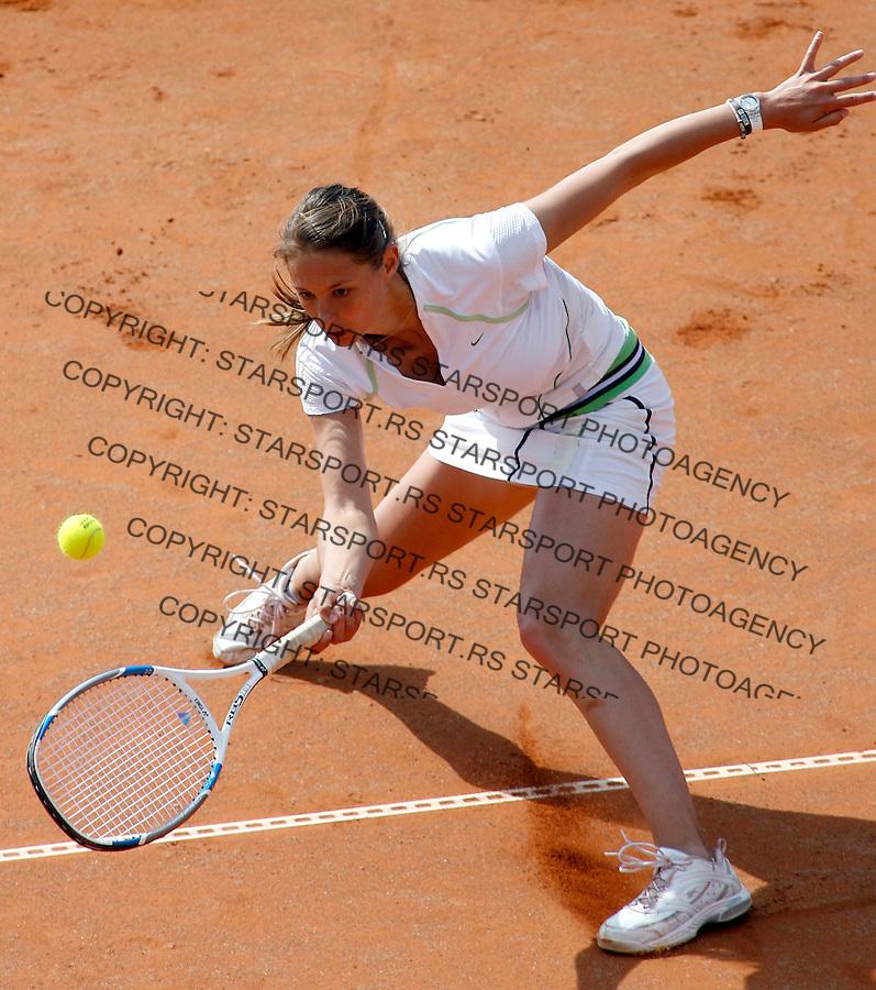 Tennis, Fed Cup, Europe/Africa zone group.Serbia Vs. Sweden.Vojislava Lukic.Plovdiv, 19.04.2007..foto: Starsport