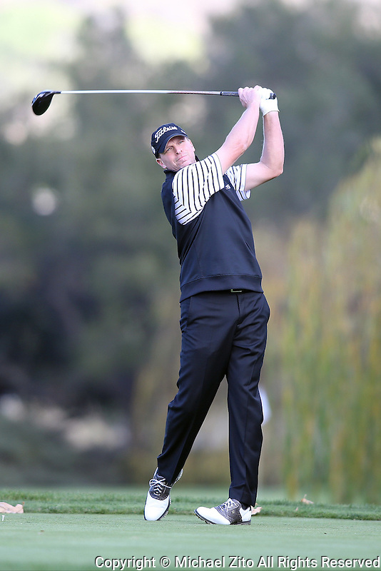 12/05/13 Thousand Oaks, CA: Steve Stricker during the first round of the 2013 Northwestern Mutual World Challenge, benefitting the Tiger Woods Foundation.