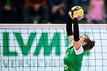 05.10.2019, Halle Berg Fidel, Muenster<br />Volleyball, Bundesliga Frauen, Normalrunde, USC MŸnster / Muenster vs. Allianz MTV Stuttgart<br /><br />Zuspiel Sarah Emma van Aalen (#10 Muenster)<br /><br />  Foto © nordphoto / Kurth