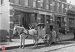 John S. French's Bakery delivery wagon, late 1800s. The business was located at 300 South Main Street in Waterbury.