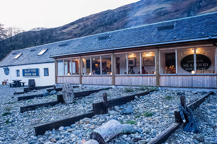 The restaurant at Loch Fyne, West Coast of Scotland