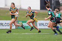 The Wyong Roos play Northern Lakes Warriors in Round 8 of the Ladies League Tag Central Coast Rugby League Division at Morry Breen Oval on 27th of May, 2019 in Kanwal, NSW Australia. (Photo by Paul Barkley/LookPro)