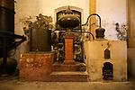 Old distilling equipment for brandy cognac production in Gonzalez Byass bodega, Jerez de la Frontera, Cadiz province, Spain