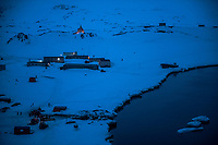 ANTARCTICA - NOVEMBER 27: The Russian Orthodox Church of the Holy Trinity sits above the Russian Bellingshausen Antarctica research base on the 27th of November, 2015 near Villa Las Estrellas, in the Fildes Peninsula on King George Island, Antarctica. <br /> <br /> Daniel Berehulak for The New York Times