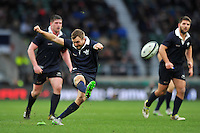 George Cullen of Oxford University kicks for the posts. The Varsity Match between Oxford University and Cambridge University on December 10, 2015 at Twickenham Stadium in London, England. Photo by: Patrick Khachfe / Onside Images