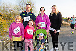 Amanda Gleasure,Lauren O'Mahony,Denis O'Mahony,Jennifer O'Mahony,Patricia Gleasure and Ronan O'Mahony at the Kilmurry NS 5km Fun Run on Friday