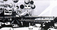 Archigram:  Instant City, 1969--at L. A., Santa Monica, San Diego Freeway intersection.  Peter Cook.  Photo '77.