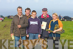 CARDS: Marking their card at the Ballyheigue Coursing on Saturday were, Timmy Dowd, Denis Leen, Dee Foran, Matt O'Connor and Bridget Leen (Tralee)...........................   Copyright Kerry's Eye 2008