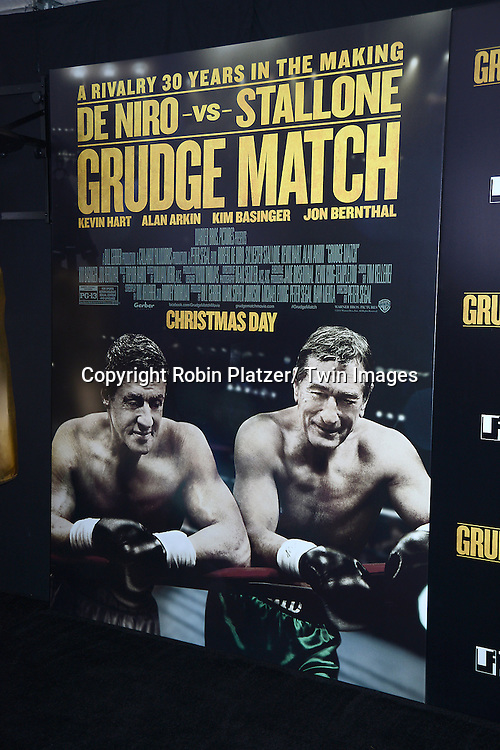 "The Poster at the World Premiere of ""Grudge Match"" at the Ziegfeld Theatre in New Yok City on December 16, 2013."