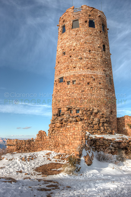 Desert View Watchtower in Winter, Grand Canyon National Park