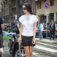 Il Primo giorno della settimana della moda a Milano<br /> <br /> The open day of the Milan fashion week 2012 edition