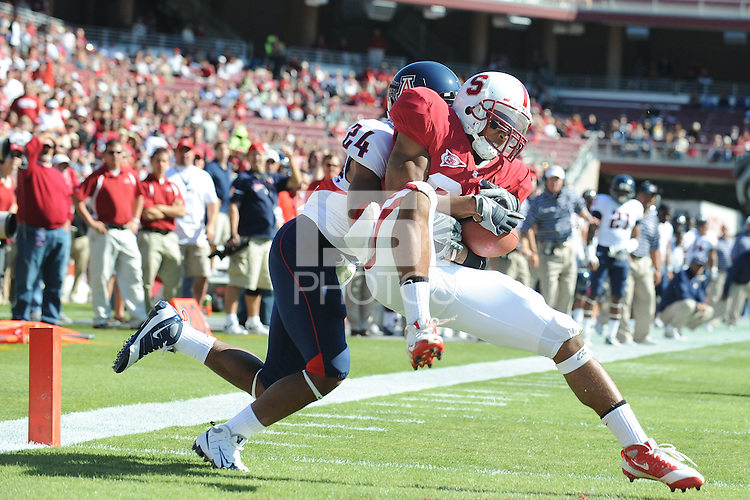 Stanford, CA - OCTOBER 11:  Wide receiver Doug Baldwin #89 of the Stanford Cardinal during Stanford's 24-23 win against the Arizona Wildcats on October 11, 2008 at Stanford Stadium in Stanford, California.