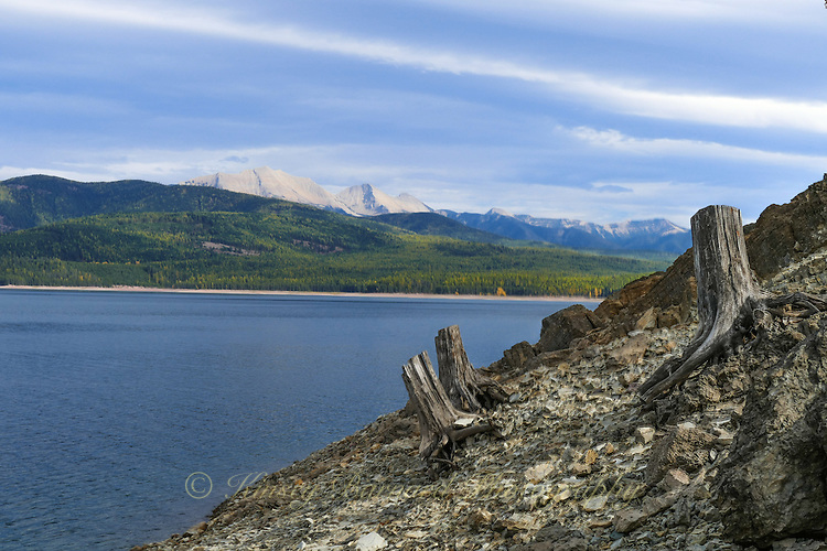 Hungry Horse Reservoir in the Flathead National Forest of Montana