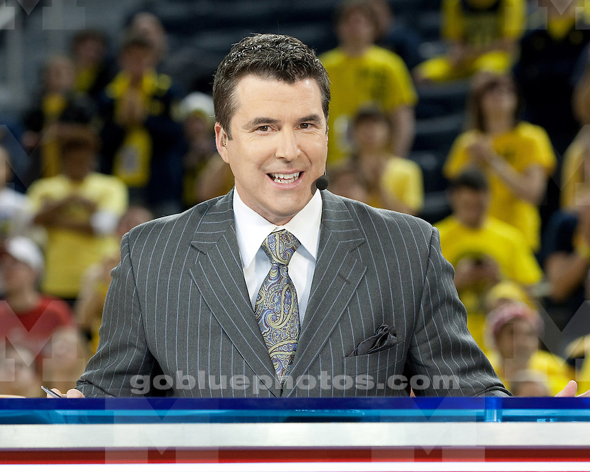 ESPN College Gameday visits Crisler Center prior to the the University of Michigan basketball game against Ohio State at Crisler Center in Ann Arbor, Mich., on February 18, 2012.