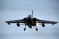 German Air Force BAe Tornado about to land. BOLD AVENGER 2007 (BAR 07), a NATO  air exercise at Ørland Main Air Station, Norway. BAR 07 involved air forces from 13 NATO member nations: Belgium, Canada, the Czech Republic, France, Germany, Greece, Norway, Poland, Romania, Spain, Turkey, the United Kingdom and the United States of America. The exercise was designed to provide training for units in tactical air operations, involving over 100 aircraft, including combat, tanker and airborne early warning aircraft and about 1,450 personnel.