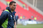 Connacht's Head Coach Pat Lam during the pre match warm up<br /> <br /> Rugby - Scarlets V Connacht - Guinness Pro12 - Sunday 15th Febuary 2015 - Parc-y-Scarlets - Llanelli<br /> <br /> &copy; www.sportingwales.com- PLEASE CREDIT IAN COOK