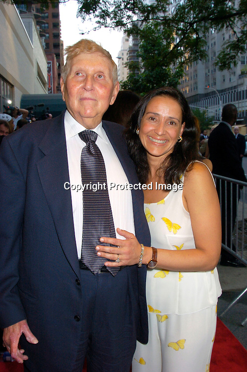 "Sumner Redstone and wife Paula ..at the World Premiere of ""The Manchurian Candidate"" ..on July 19, 2004 at the Clearview Cinema's Beekman ..Theatre. Photo by Robin Platzer, Twin Images"