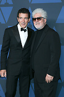 LOS ANGELES - OCT 27:  Antonio Banderas, Pedro Almodovar at the 11th Annual Governors Awards at the Dolby Theater on October 27, 2019 in Los Angeles, CA