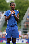 26 August 2007: Washington's Tiffany McCarty. The Washington Freedom played the Connecticut Sun in the Hall of Fame Game as part of the National Soccer Hall of Fame Induction Weekend at the National Soccer Hall of Fame in Oneonta, New York.