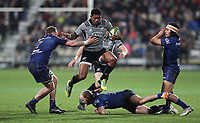 Waisake Naholo in action during the Game of Three Halves match between the NZ All Blacks and Otago at AMI Stadium in Christchurch, New Zealand on Friday, 10 August 2018. Photo: Martin Hunter / lintottphoto.co.nzz