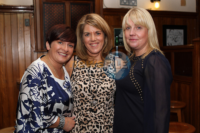 Yvonne Russell with Gillian Harte and Pamela Brennan at her 40th in McPhails...(Photo credit should read Jenny Matthews/NEWSFILE)...
