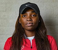 Den Bosch, The Netherlands, Februari 8, 2019,  Maaspoort , FedCup  Netherlands - Canada, Draw, Francoisa Abanda (CAN)<br /> Photo: Tennisimages/Henk Koster