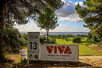 View from the 13th tee during the Pro-Am of the Challenge Tour Grand Final 2019 at Club de Golf Alcanada, Port d'Alcúdia, Mallorca, Spain on Wednesday 6th November 2019.<br /> Picture:  Thos Caffrey / Golffile<br /> <br /> All photo usage must carry mandatory copyright credit (© Golffile | Thos Caffrey)