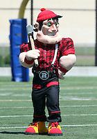 Ottawa RedBlacks mascot 2014. Photo Scott Grant