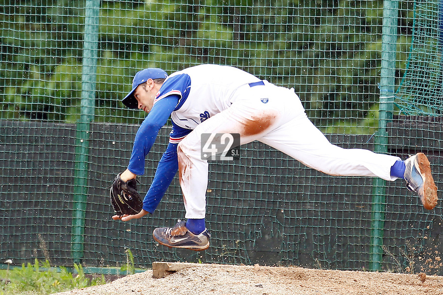 21 June 2011: Jerome Rousseau of Team France is seen during UCLA Alumni 5-3 win over France, at the 2011 Prague Baseball Week, in Prague, Czech Republic.